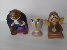 Lot of 3 Disney BEAUTY AND THE BEAST Hand Puppets Pizza Hut CHIP COGSWORTH Toys