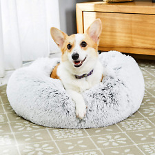 Toozey Calming Dog Bed, Donut Dog Bed with Premium Fluffy Plush, anti Anxiety Do