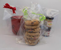 """100 x Clear sweet Gift, Party, Display Bags with gusset 9"""" (tall) x 5"""" x 3"""""""