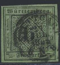 Württemberg Nr. 3 gestempelt, 6 Kreuzer Ausgabe 1851 (43948)