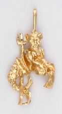 Aquarius 24k Yellow Gold Plated Zodiac Charm Pendant Astrological Sign