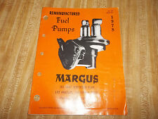 Vintage - 1978 Remanufactured Fuel Pumps Margus