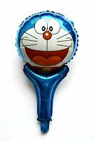 3 Stück Kein Helium Ballon! Folienballons + Glocken Doraemon Roboter Katze Blau