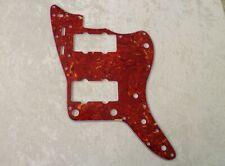 RED TORTOISE SHELL 4 PLY PICKGUARD FOR FENDER JAZZMASTER