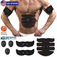 Electric Muscle Toner Ems Machine Wireless Toning Belt Simulation Abs Fat Burner