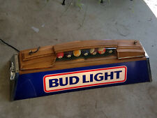 Vintage Bud Light Pool Table Light Light (40X12X14) Pool Balls Man Cave Bar