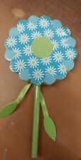 Hallmark Self stick Notes Blue Paper Flower with pencil 80 sheets notes