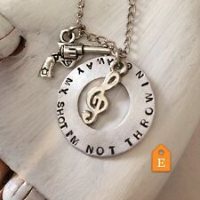 Hamilton Musical Broadway Playbill Necklace