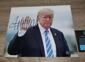 Donald Trump signed 8x10 Picture autographed Photo Nice Photo with COA