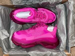 balenciaga shoe- triple s sneaker (pink) sz 9 - brand new , never worn w/ box