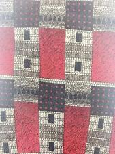 COCKTAIL COLLECTION RED GRY WINE GEOMETRIC DECO SILK NECKTIE TIE MJN0121A #E36
