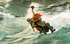 The Life Line by Winslow Homer 110cm x 66cm Canvas Art Print Wall Art