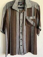 Royal Prestige Men'sStriped Shirt 100% Linen Shirt XL