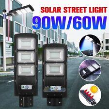Outdoor Commercial 90W LED Solar Street Light IP67 Dusk to Dawn PIR Sensor Lamp