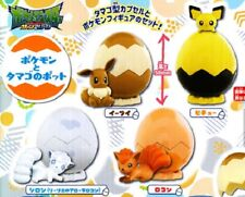 Tomy Pokemon Egg Pot Collection Figure Gashapon x4 Eevee Pichu Vulpix