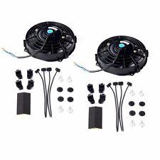 "2x 7"" inch Universal Slim Fan Push Pull Electric Radiator Cooling 12V Mount Kit"
