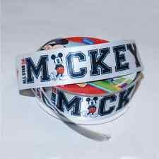 1 Metre Disney Mickey Mouse All Star Font 25mm Satin Craft Ribbon