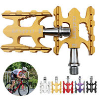 Bike Pedals Mountain Road Bicycle Flat Platform 9/16 Lightweight Aluminum Alloy