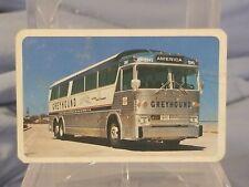 Vintage Advertising Pocket Wallet Calendar Card: 1972 Greyhound Bus
