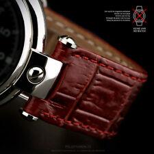 UHRENBAND LEDERBAND 20mm mit Ausschnitt Aussparung Poljot Basilika Uhr Rot