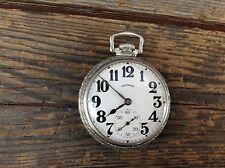 Very Nice 1923 Illinois 17 Jewel Pocket Watch in Fancy Spartan Case - Works !