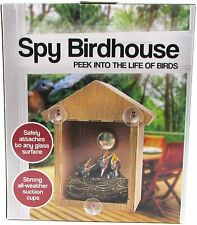 Spy House See Through Two Way Mirrored Bird House - Suction Cup Window Mounted