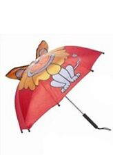 Childrens Red Lion Style Umbrella Brolly Fun Character Rainy Days Winter