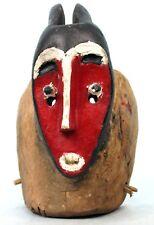 Art Africain - Authentique Masque Zoomorphe de Danse Villageois Baoulé - 31 Cms