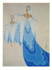 VINTAGE Erte Art Deco stampa 1955 Blaue Donau Costume
