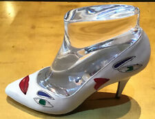 Vintage 80's White Pumps Stilletto Pictures New Novelty Surreal Disco