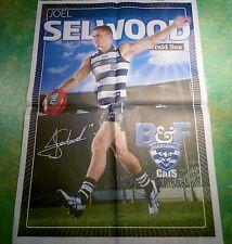 JOEL SELWOOD - GEELONG FOOTBALL CLUB - AFL FULL SIZE HERALD SUN LIFTOUT 2014