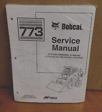 Bobcat 773 Skid Steer Loader Complete Shop Service Manual 1 PN# 6900092