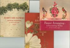 Lot 1940's Coca Cola Flower Arranging Booklets Burroughs Vol 1 - 3 Home Hobby