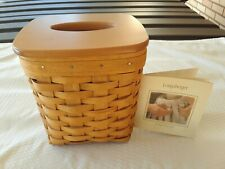 Longaberger Tall Tissue Basket With Longaberger Lid