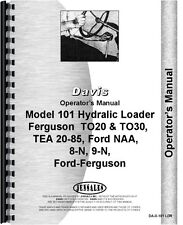 Ford Davis 101 Loader Attachment Operators Manual