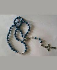 Rosenkranz Halskette Kreuzkette mit Kreuz Glaube Jesus  Kreuz Perlenkette Perlen