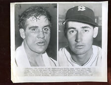 Original December 19 1946 Ted Williams & Billy Conn Wire Photo