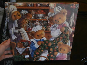 "Puzzle 1000 Gibson's ""Upstairs..Bears"" Carol Lawson jigsaw collectors collezione"
