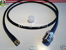 3 Feet UHF SO239 SO-239 female jack to SMA male plug Jumper pigtail cable RG58