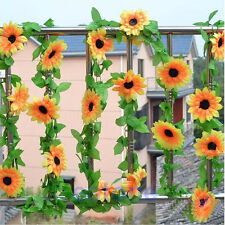 For Home Wedding Floral Decor DIY Artificial Sunflower Garland Flower Vine NEW
