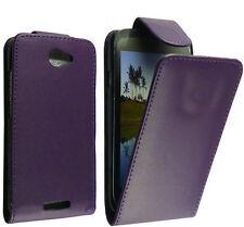 Billetera Polipiel Funda Carcasa Tipo Libro Púrpura Pr HTC One S