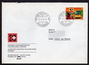 Switzerland: Stamp Collectors Society Cover + PTT Services Postbus stamp; Zurich