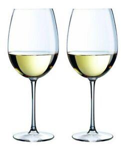 2x Large Burgundy Red white wine glasses 24cm High Royal Leerdam 730ml