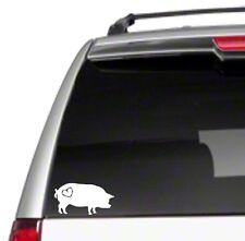 """Love Pot Bellied Pig 6"""" Car Vinyl Sticker Decal hog pet farm heart gift *J27*"""