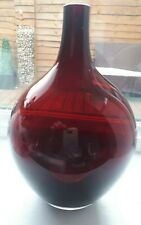 GORGEOUS RED GLASS BUD VASE FROM IKEA 8 INCHES HIGH