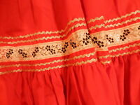 Square Dance LADIES Square Dancing Skirt  ~ RED ~ Size SMALL ~   T45