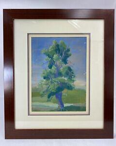 ZYGMUNT DOBRZYCKI (1896-1970) AQUARELLE GOUACHEE PAYSAGE ORIG. ENCADREE DATEE 43