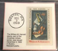 1969 Six Cent Stamp William M. Harnett GMA GEM MT 10