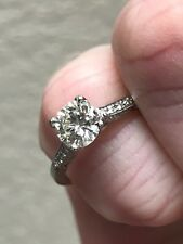 Ladies 18 Kt. White Gold and Diamond Engagement Ring by Tacori - .87 TCW