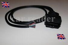 OBD2 16pin macho Bujía Conector Cable Fly 2Pin 16 Enchufe Extremo Abierto 74cm